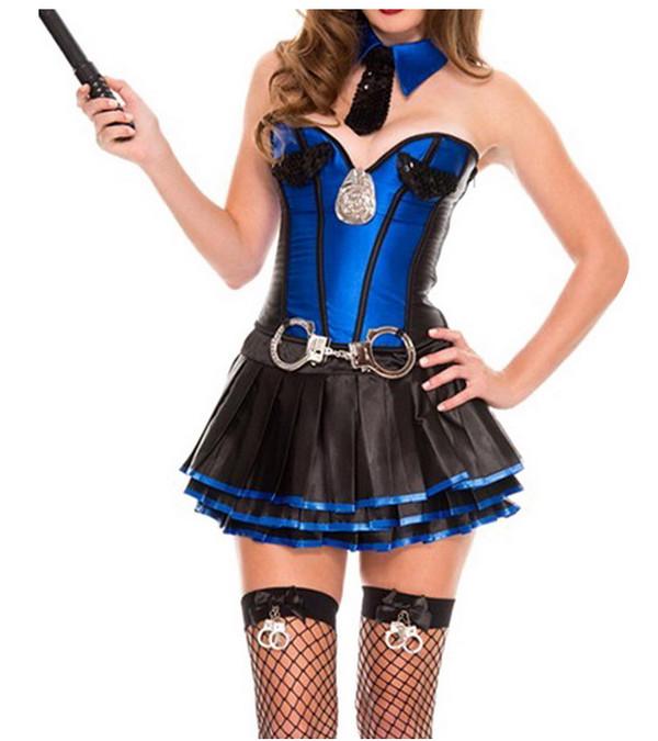 stitching multi-layered ruffle halloween cosplay costume