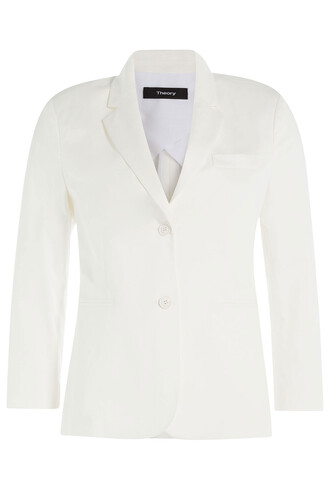 blazer cotton white jacket