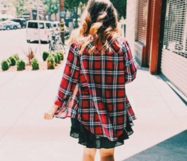 shirt plaid skirt plaid shirt