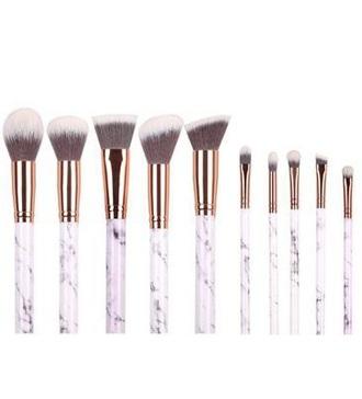 make-up girly white makeup brushes marble white marble