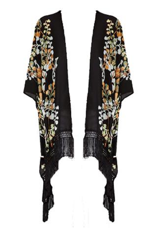 jacket fringe kimono