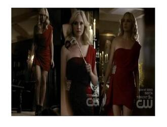 red dress tv show candice accola the vampire diaries masquerade dress