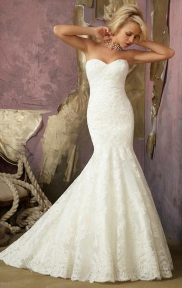 dress gorgeous mermaid long wedding dress sheindressau