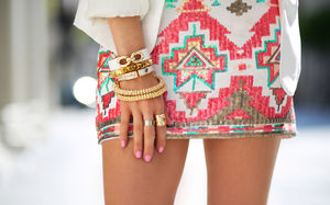 skirt aztec aztec skirt glitter dress glitter pink white indian jewels
