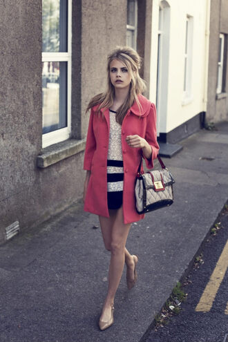 coat cara delevingne pink vintage trench coat dress