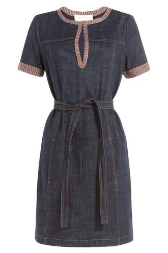 dress denim dress denim knit blue