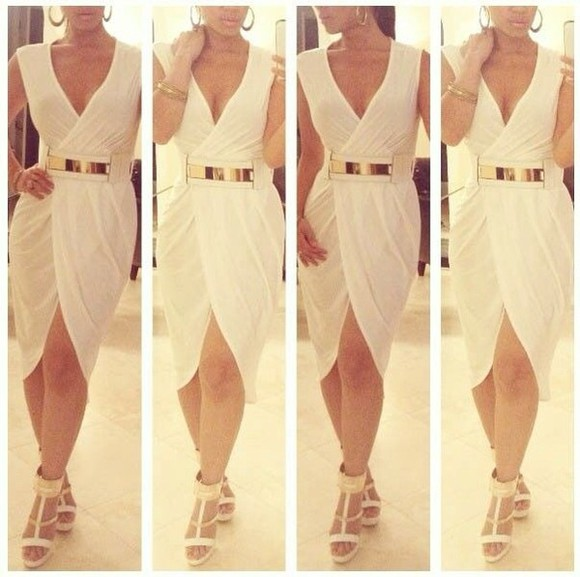 dress gorgeous wrap white wraparound sarong urgent
