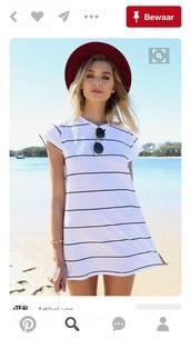 dress,black and white dress,shirt dress,white dress,white t-shirt,white,stripes,top,shirt,boho shirt,white shirt,boho,blouse