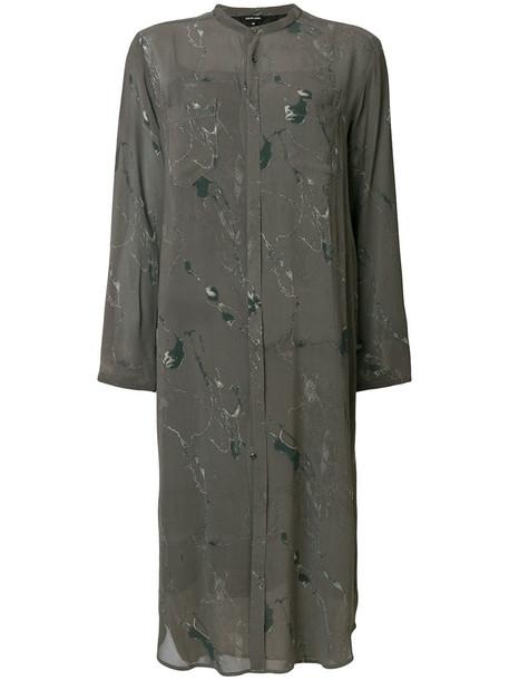 Pas De Calais dress shirt dress women grey