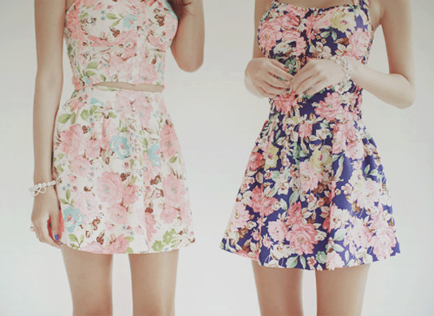 553fbc9156fd dress flowers summer dress summer outfits floral pink floral dress cut-out  dress skater dress