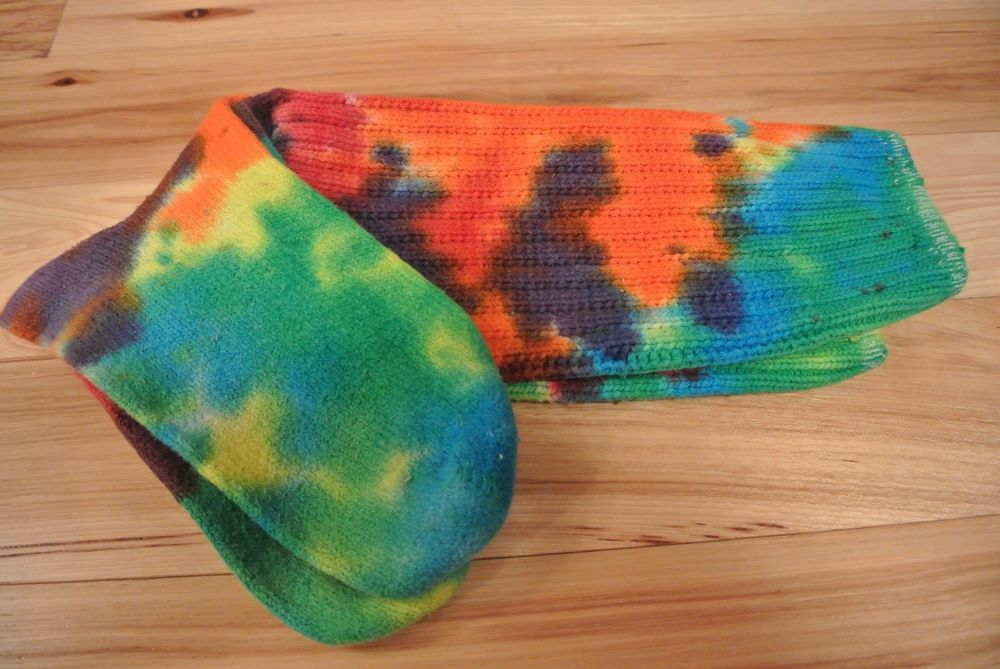 Rare authentic e.g. smith original boot sock rainbow tie dye love eric 1995