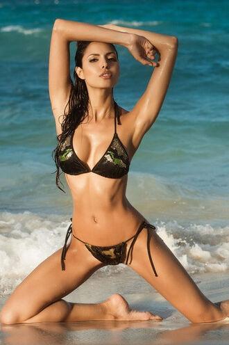 swimwear bikini exclusive halter top skimpy thong tie side triangle irgus bikiniluxe