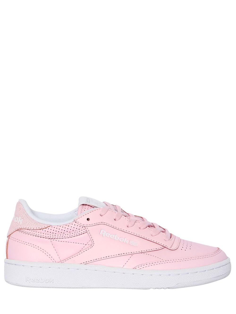 REEBOK CLASSICS Club C 85 Fbt Leather Sneakers in pink