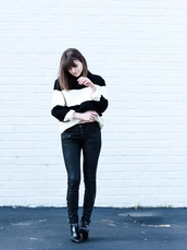 fire on the head,blogger,skinny pants,striped sweater,sweater,shoes,striped turtleneck sweater,turtleneck,turtleneck sweater,pants,black pants,black boots,boots,ankle boots,fall outfits