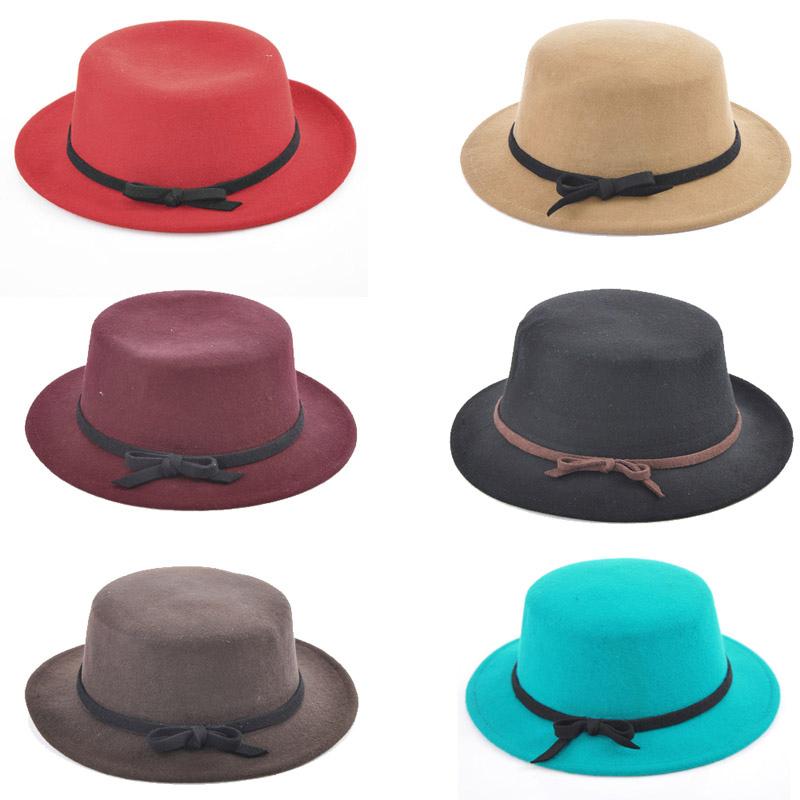 Women Retro Round Bowknotbowler Hat Fedora Trim Bucket Jazz Cap M1895 | eBay