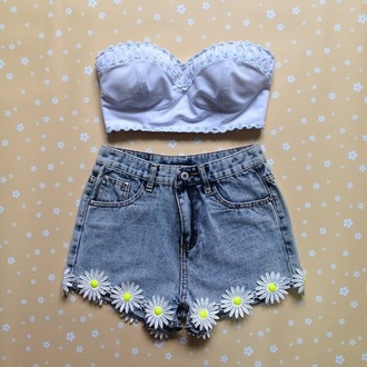 shorts denim daisy