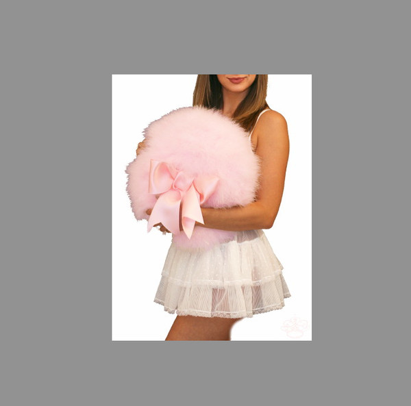 skirt pillow pink fluffy bows cute girly