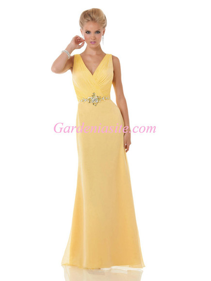 formal yellow dress