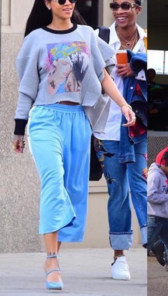 pants sport pants rihanna baggy pants streetstyle urban