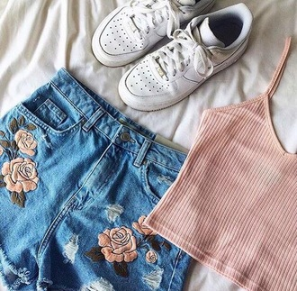 shorts floral pink