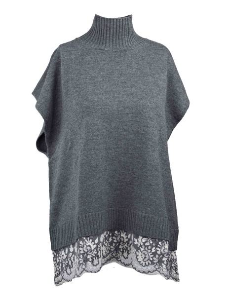 ERMANNO ERMANNO SCERVINO top knitted top grey