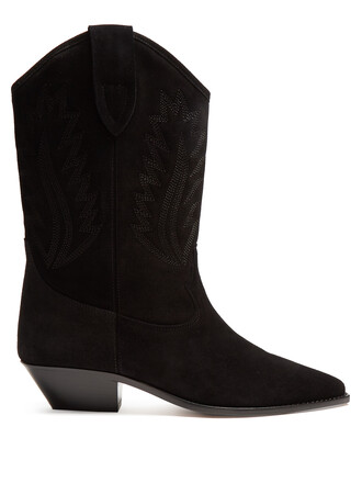 western boots boots leather black shoes