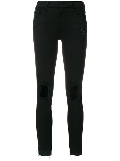 Frame Denim jeans skinny jeans women spandex cotton black