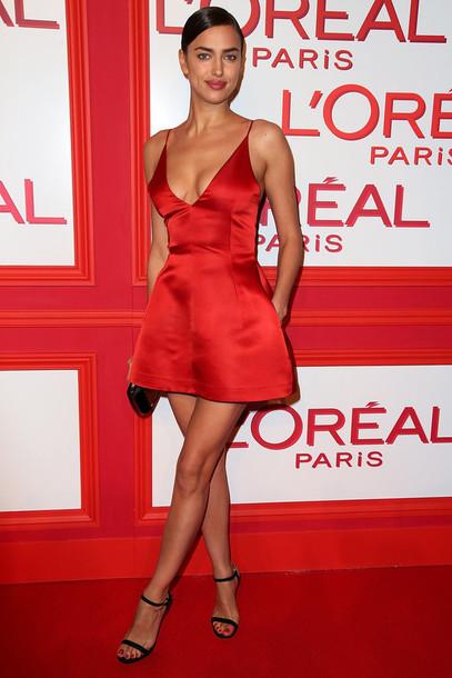 red mini cocktail dress