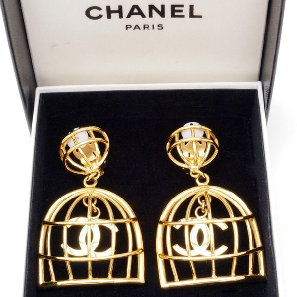 jewels chanel birdcage earrings jewelry