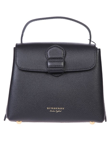 Burberry bag leather bag leather black