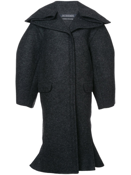 Jacquemus coat women spandex wool grey