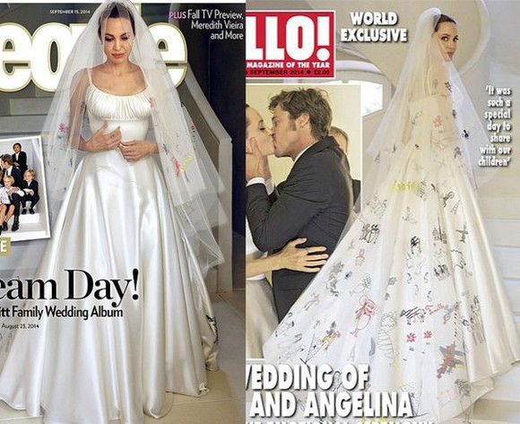 dress angelina jolie white dress wedding dress