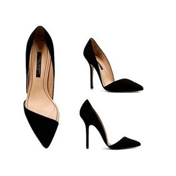 shoes zara black shoes