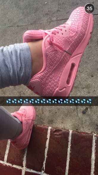 shoes sneakers bay area air max nike pink sneakers pink
