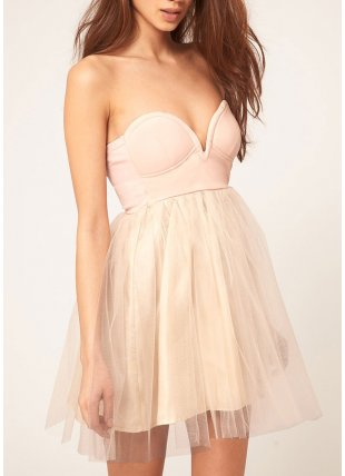 Nude Tutu Dress - Dresses from Glebe UK