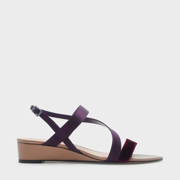strappy sandals wedge sandals purple shoes