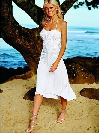 dress wedding clothes white dress beach dress