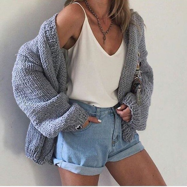 shirt tank top loose white cute top blouse sweater cardigan cable knit grey winter sweater warm