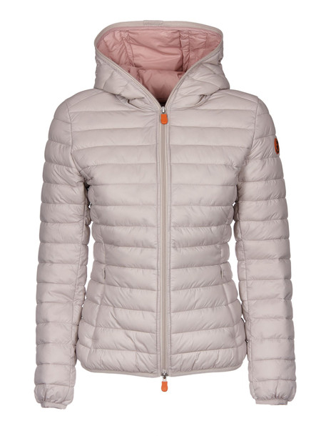 Save The Duck Hooded Down Jacket in grey / silver