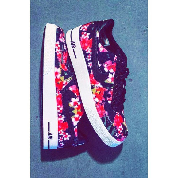 shoes floral airforce