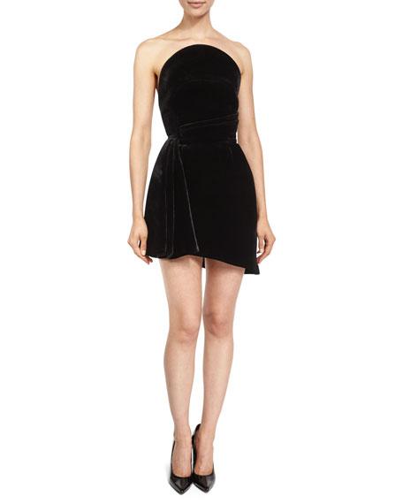 aaa8cba5665f4 Brandon Maxwell Strapless Velvet Cocktail Dress, Black