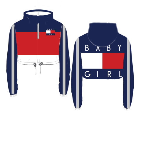 Baby Girl Crop Windbreaker Pre Order