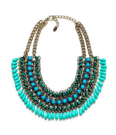 CORD CHAIN NECKLACE WITH TURQUOISE STONES - Accessories - Accessories - Woman - ZARA France
