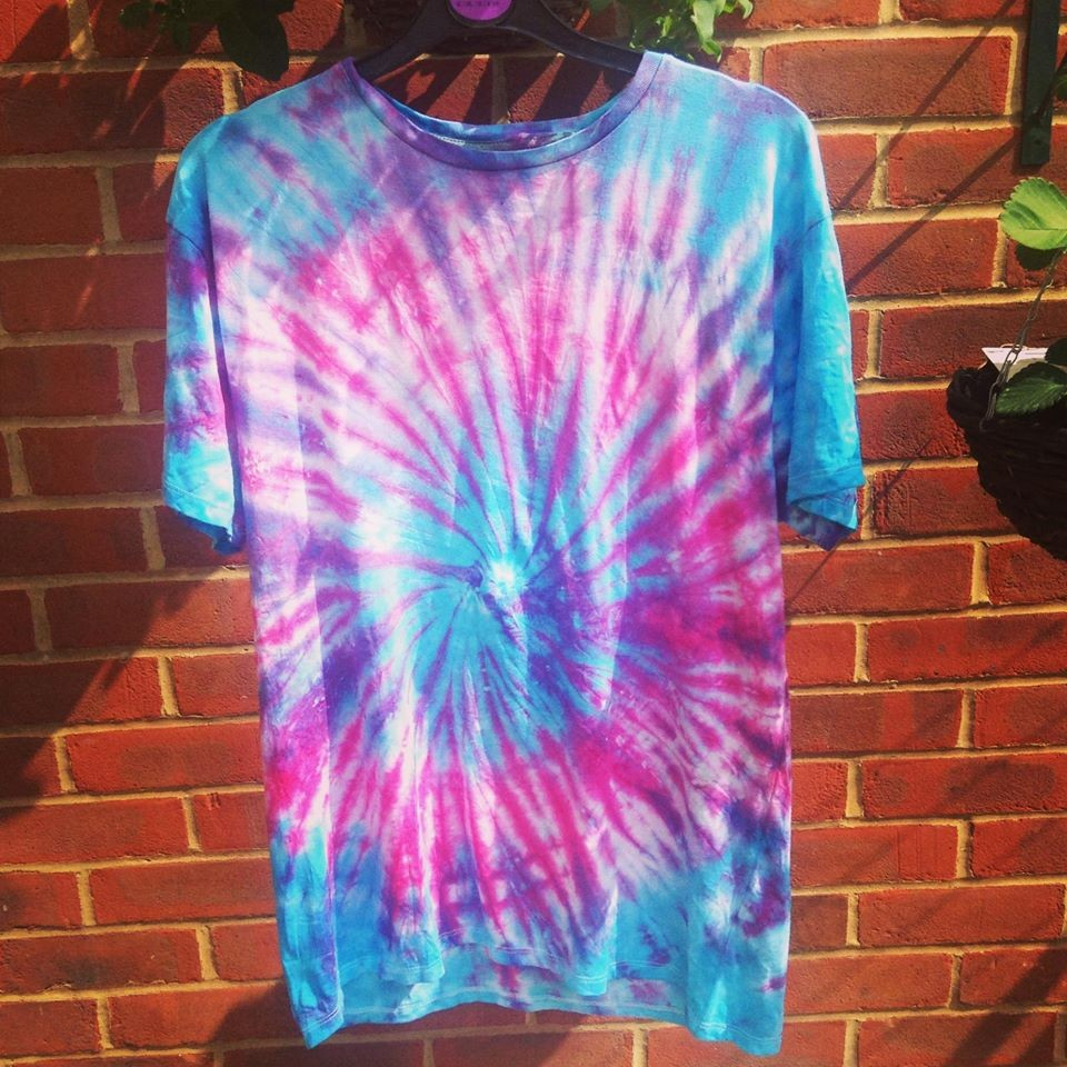 Tie Dye Blue and Pink T-Shirt
