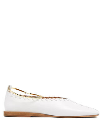 ballet flats ballet flats leather white shoes