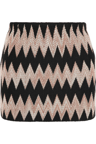 skirt mini skirt mini knit black wool crochet