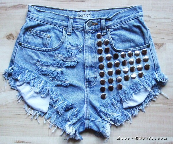jeans denim girl studded t-shirt dress shorts