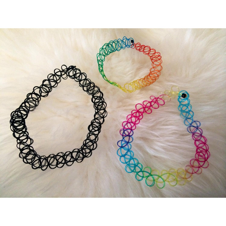 choker necklace bracelet ring