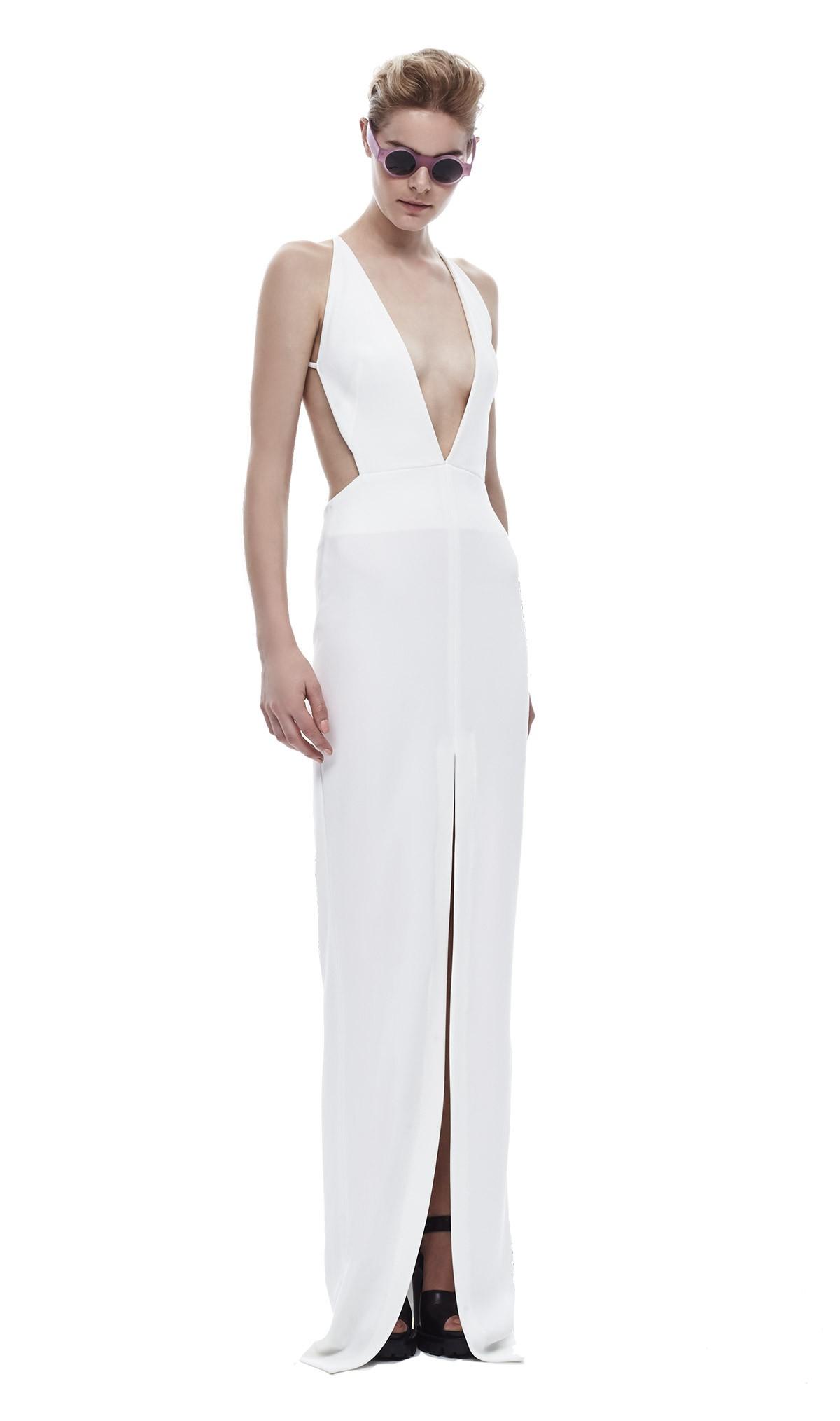 Solace london revelation maxi dress white