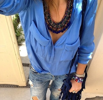 jewels collar necklace aztec colorful bracelets tressed color summer fashion blue charms